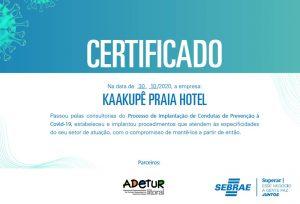 Certificado Prevenção COVID-19 SEBRAE